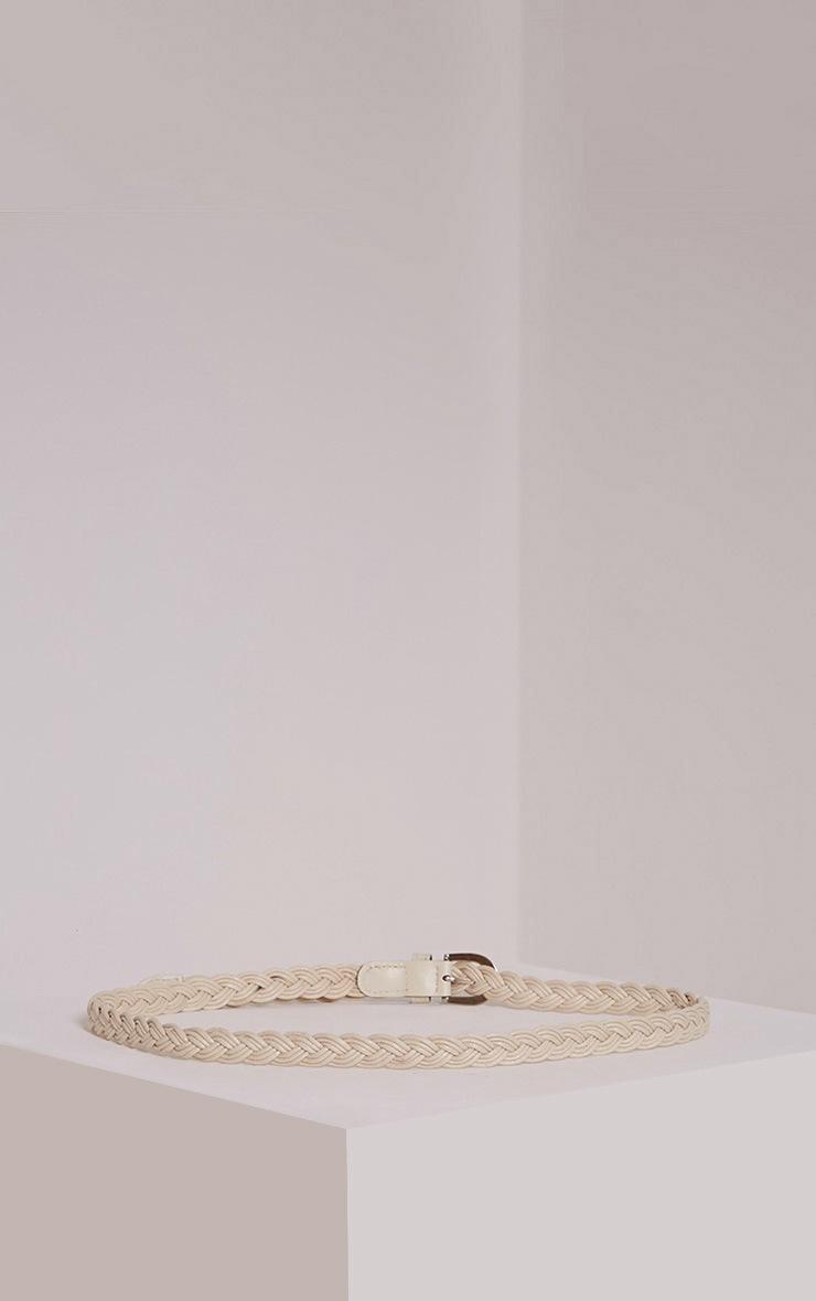 Lenora Cream Woven Belt 3