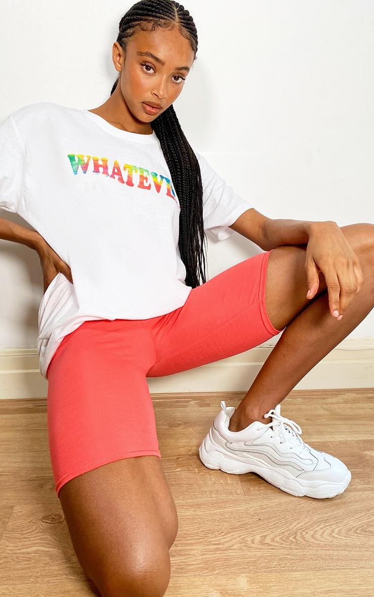 White Printed T Shirt 3
