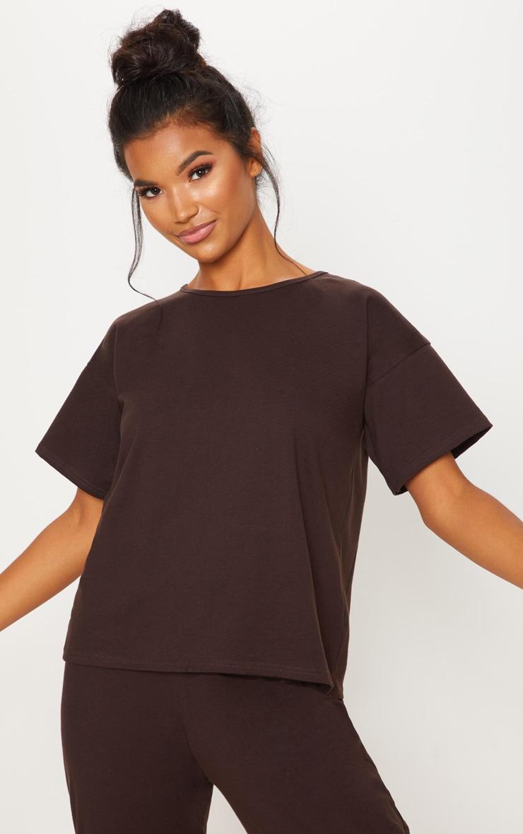 Chocolate Cotton T Shirt 1