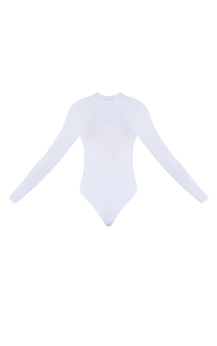Tall - Body basique blanc à manches longues et col ras-du-cou 5