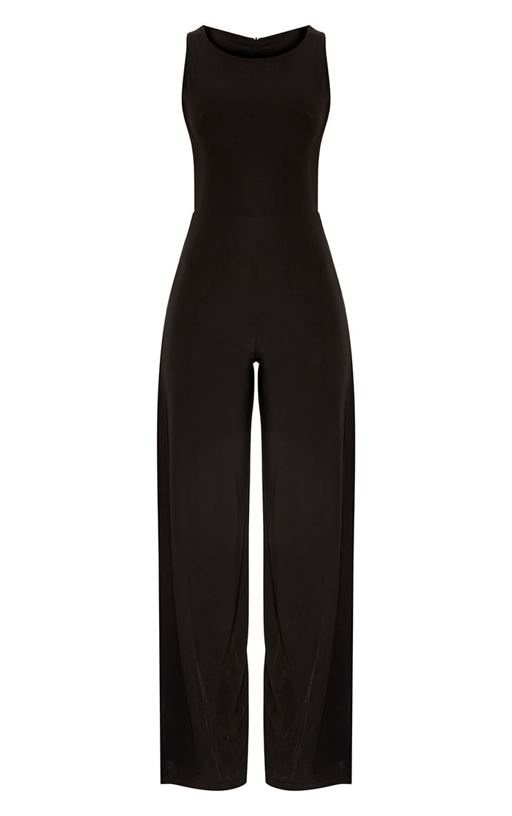 Chanice Black Thigh Split Jumpsuit  3