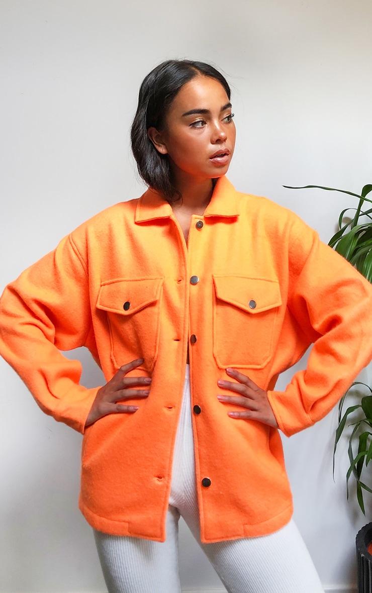Orange Pocket Front Shacket 1