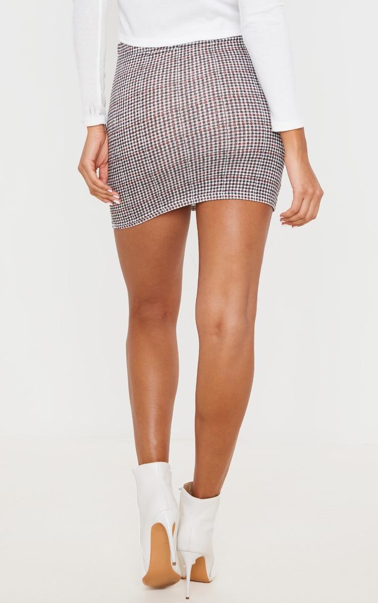 Mini-jupe rouille à carreaux 4