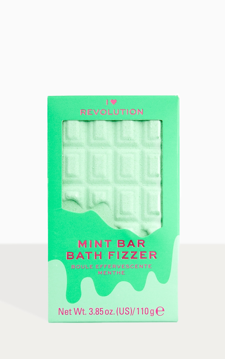 I Heart Revolution Chocolate Bar Bath Fizzer Mint 1
