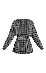 PRETTYLITTLETHING Black & Red Check 90's Inspired Costume 5