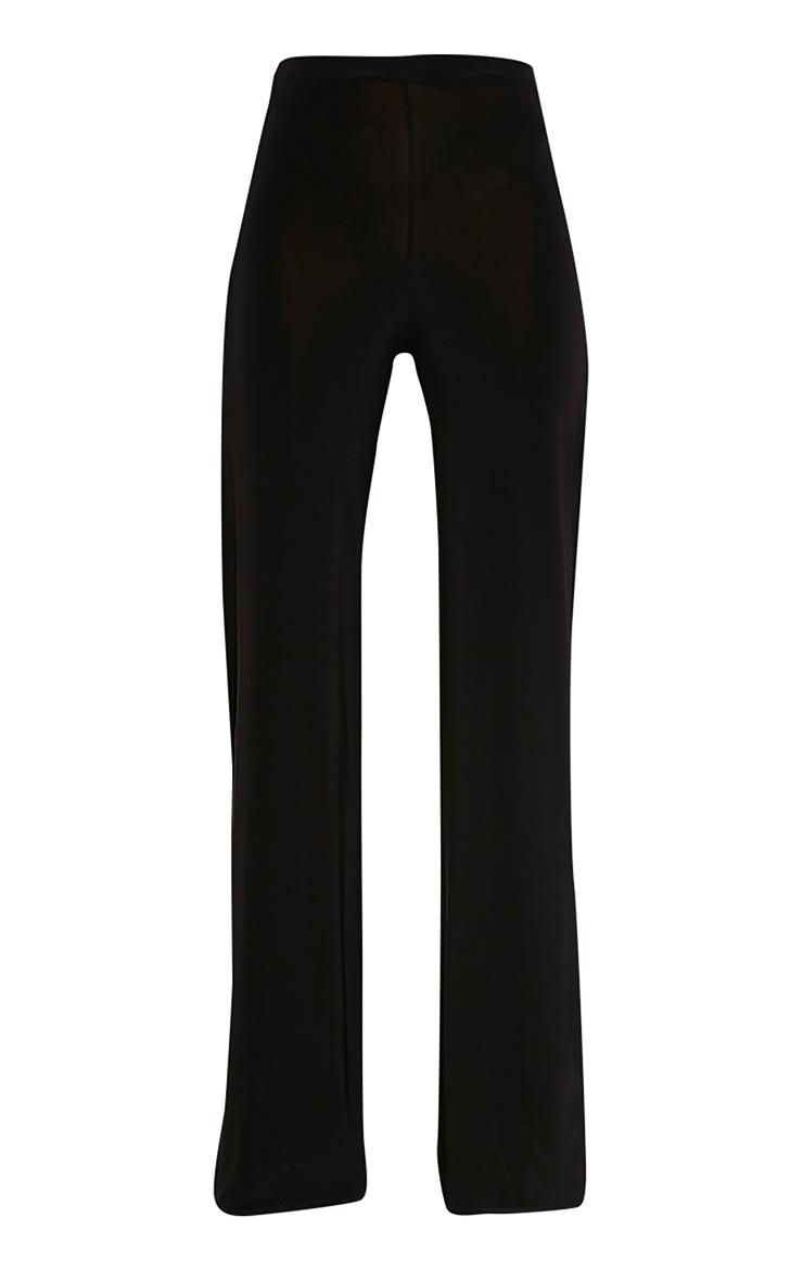 Darsee Black Side Split Slinky Trousers 3
