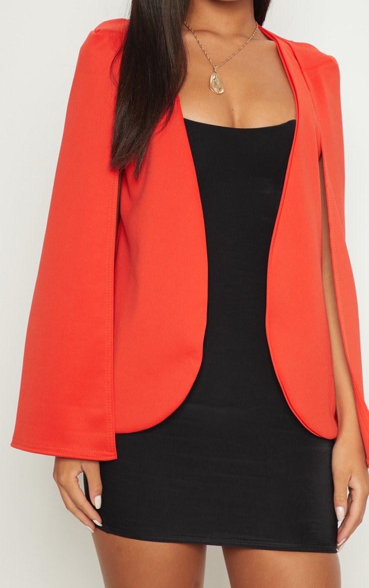 Orange Cape Blazer 4