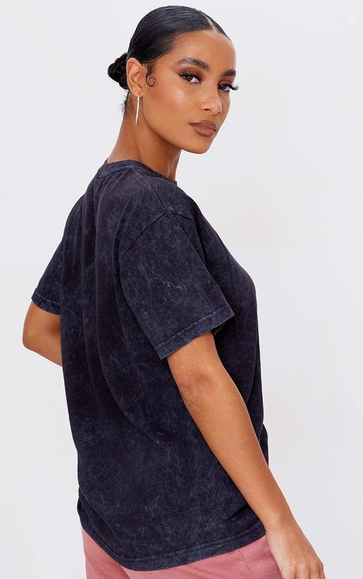 Charcoal USA Netball Printed Washed T Shirt 2