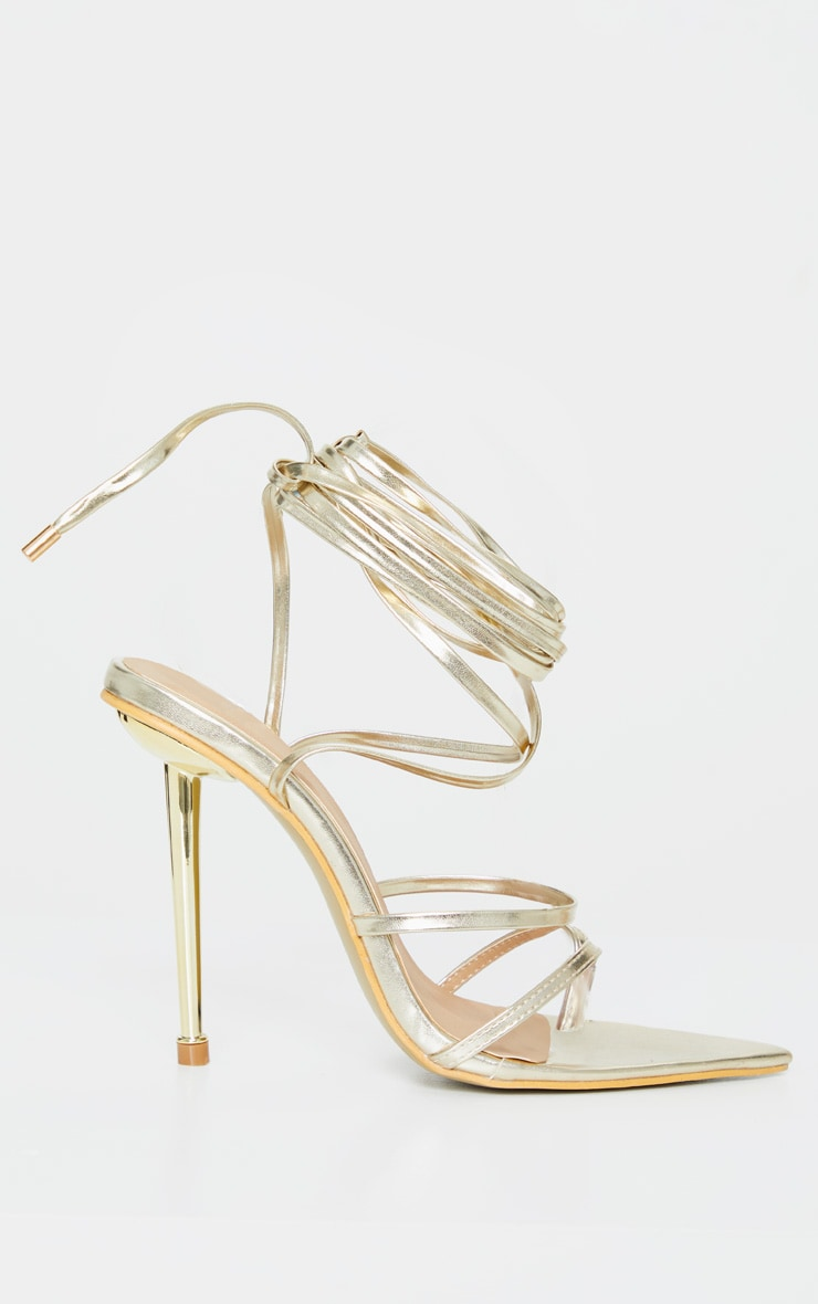 Gold Toe Loop Metal Heel Sandal 3