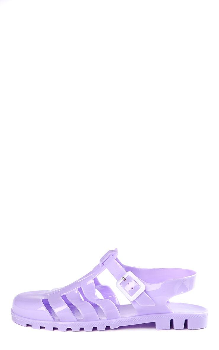 Raida Lilac Flat Jelly Sandals 9