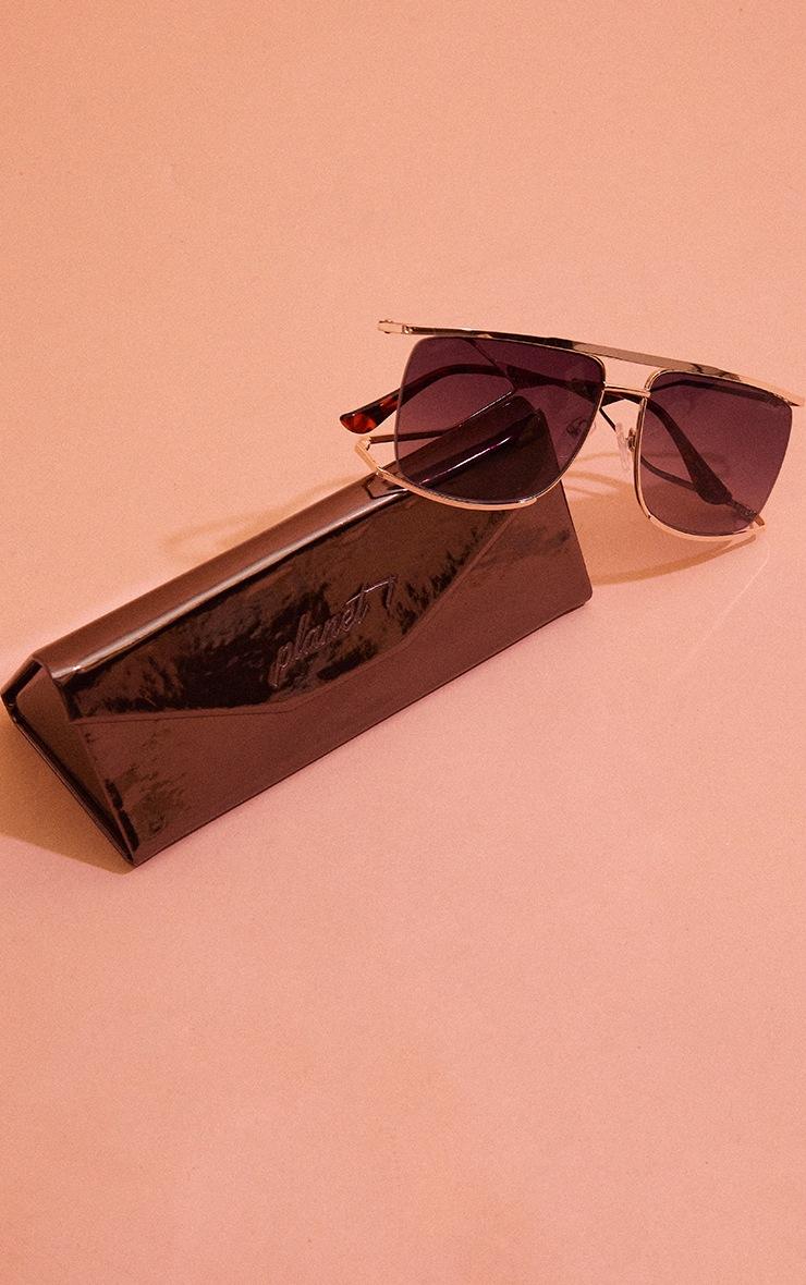 Planet I The Split Gold Gradient Smoke Sunglasses 3