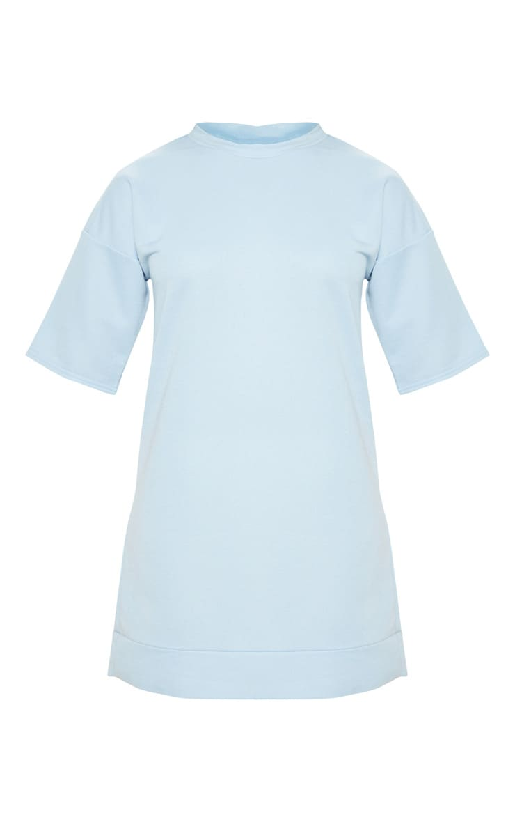 Baby Blue Short Sleeve Sweat T-shirt Dress 3