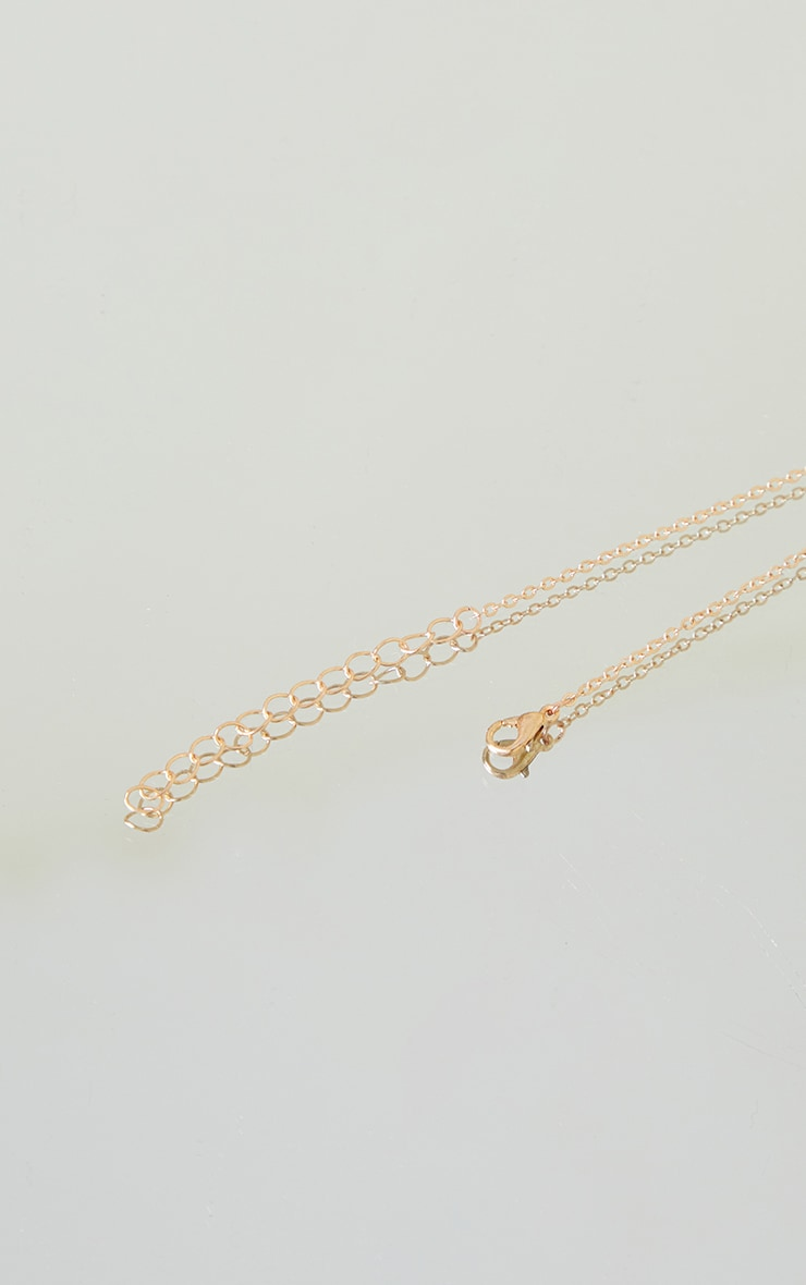 Gold Pisces Star Sign Necklace 4