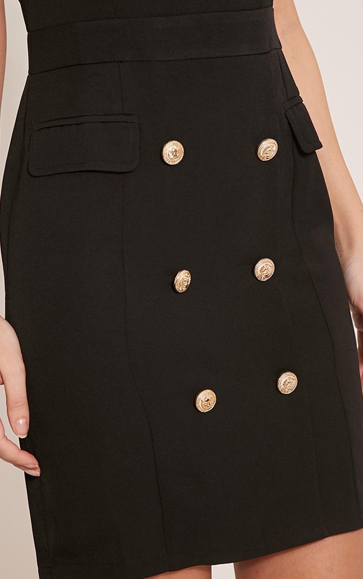 Keera Black Button Detail Blazer Dress 6