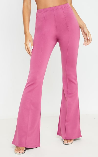 Washed Violet High Waist Extreme Flare Long Leg Trouser