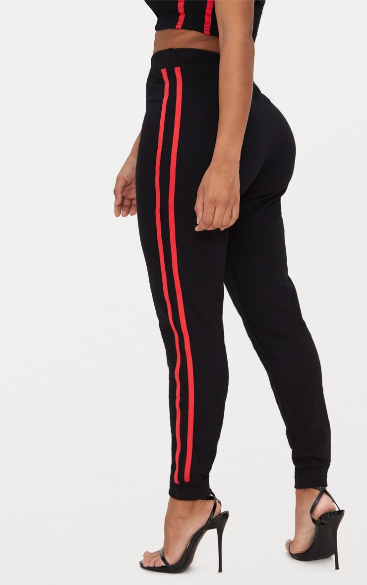 Shape  Black Side Stripe Joggers 3