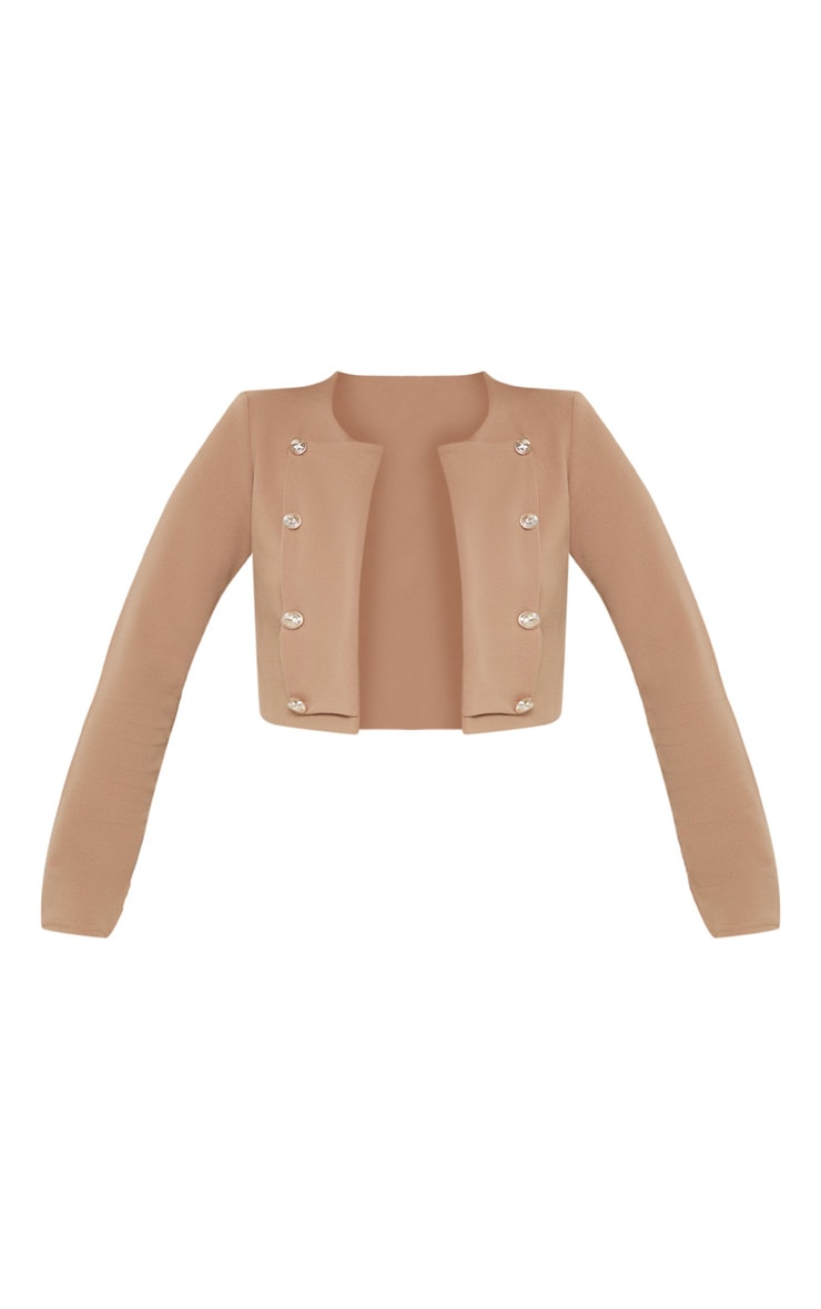 Camel Military Cropped Jacket 4
