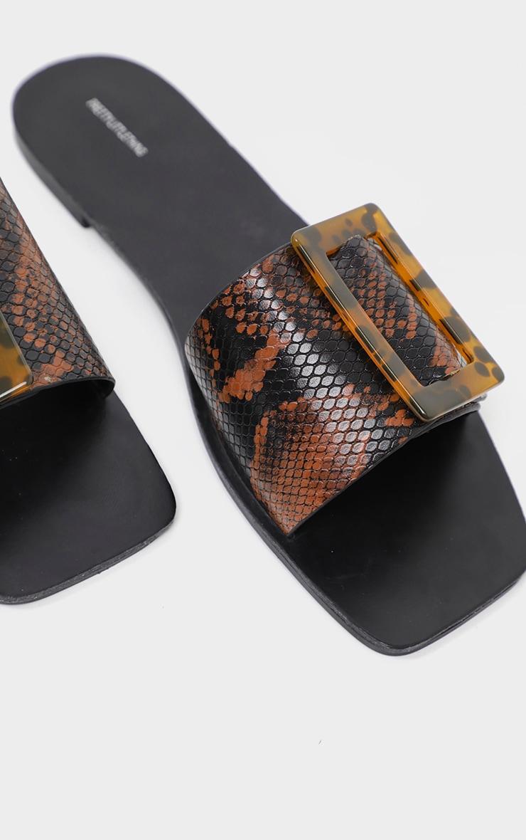 Snake Buckle Mule Sandal 4
