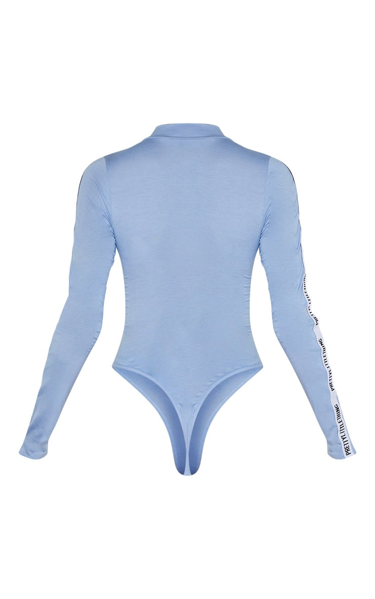 PRETTYLITTLETHING Tall Blue Long Sleeve Bodysuit 6