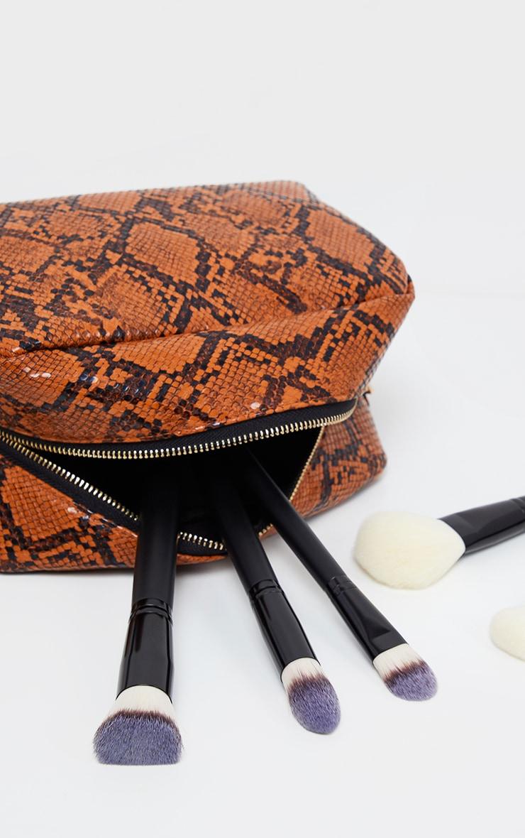 PRETTYLITTLETHING Snakeskin Make Up Bag 2