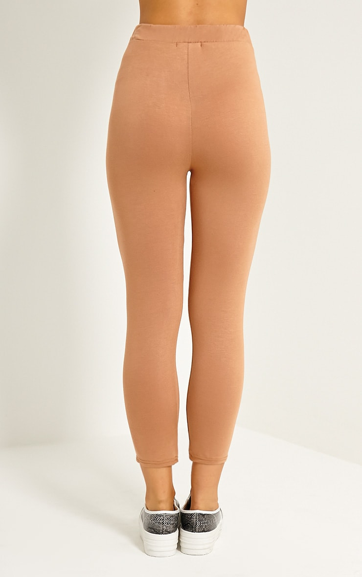 Basic Camel Cropped Jersey Leggings 3