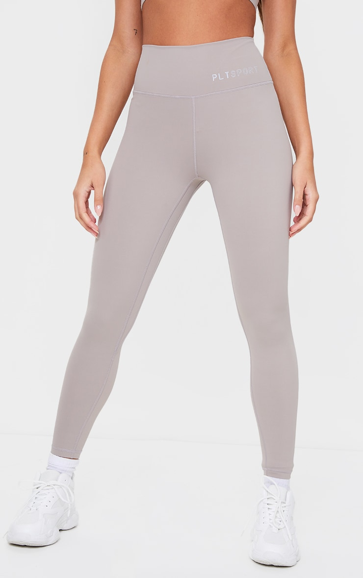 PRETTYLITTLETHING Taupe Sculpt Luxe high Waist Gym Legging 2