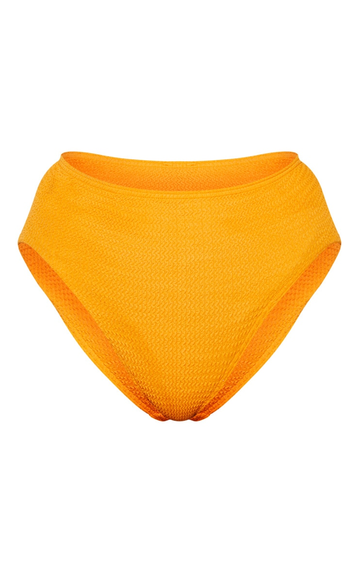 Orange Crinkle High Waist Bikini Bottom 3