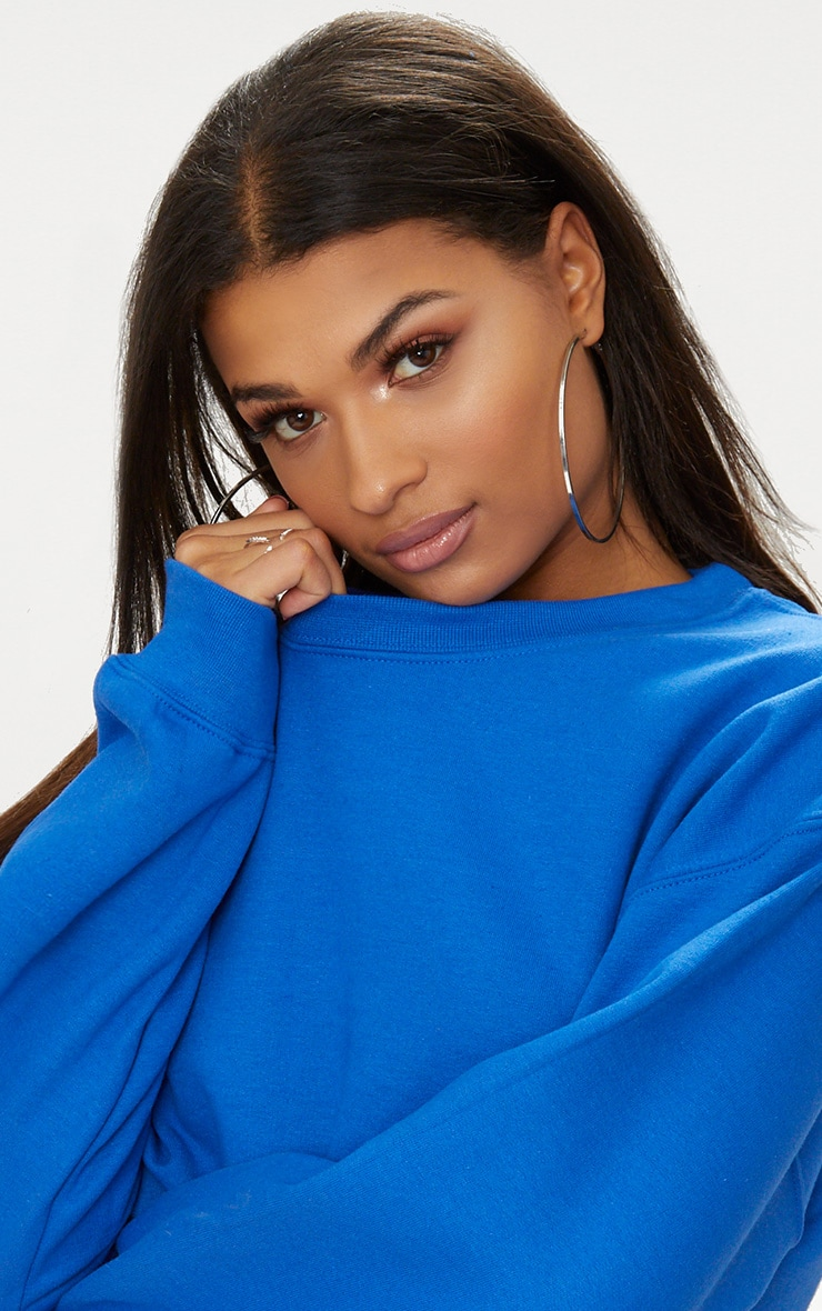 Royal Blue Ultimate Cropped Sweater 5