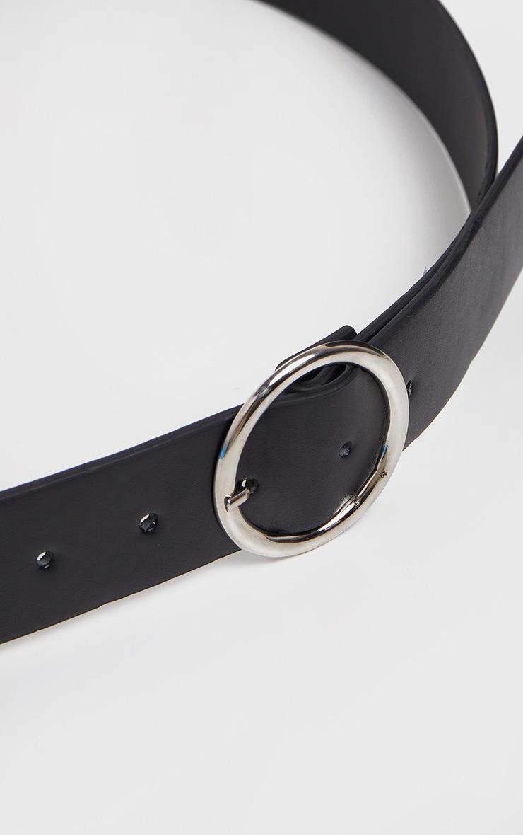 Plus Black Faux Leather Circle Detail Belt 3
