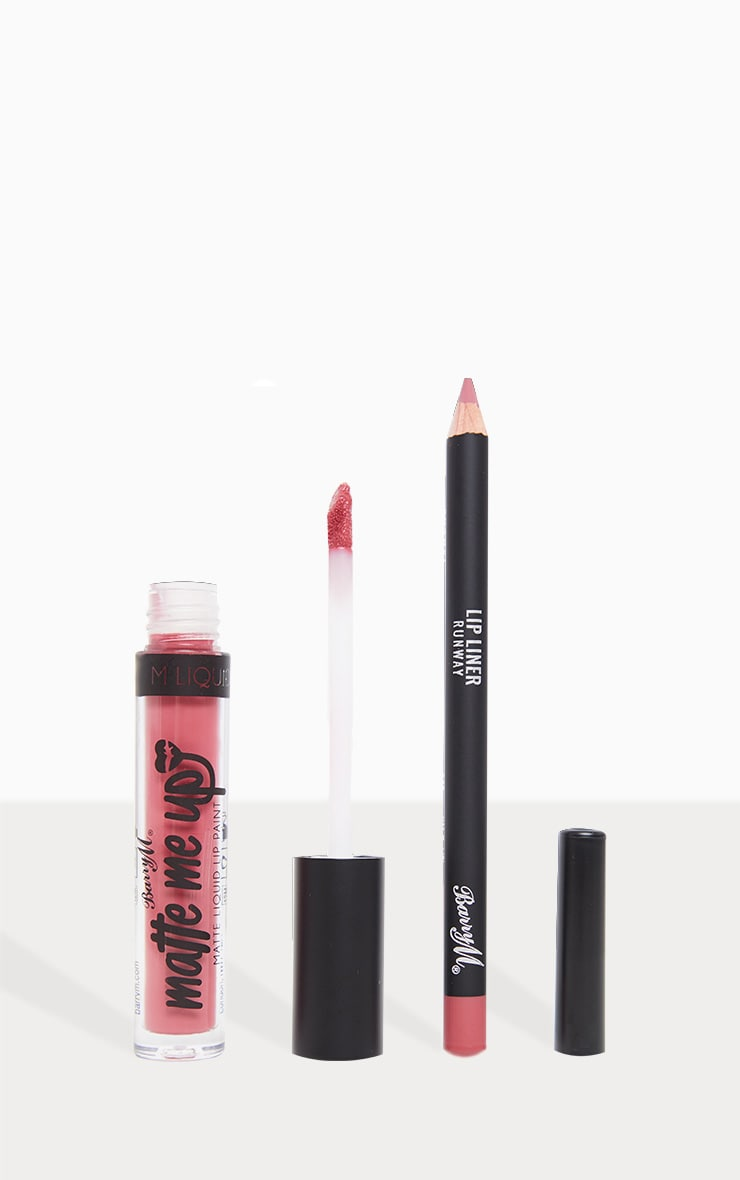 BarryM Matte Me Up Liquid Lip Kit - Runway     1