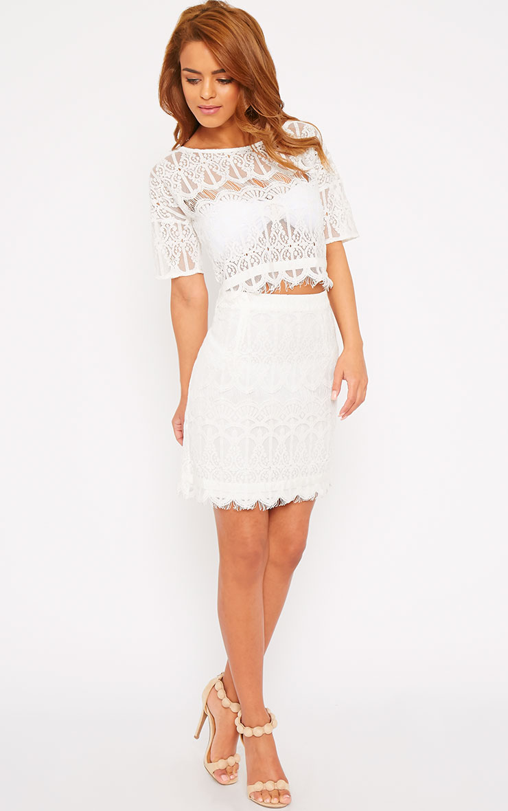 Linnea Cream Lace Skirt 7