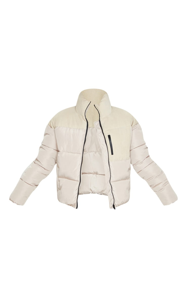 Stone Cord Contrast Pocket Puffer 5