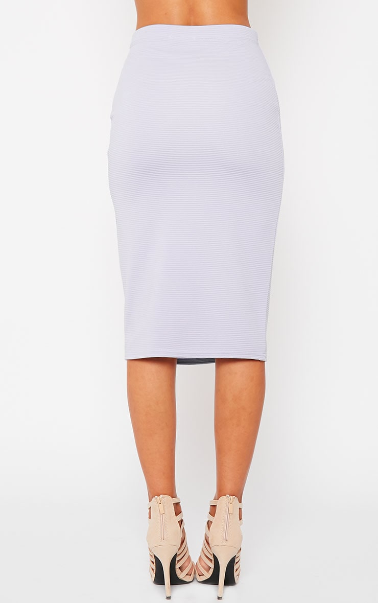 Britney Lilac Ribbed Midi Skirt 4