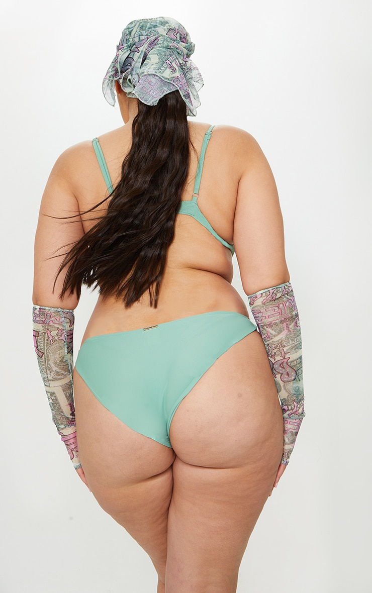 Plus Jade Mini Front Bikini Bottoms 3