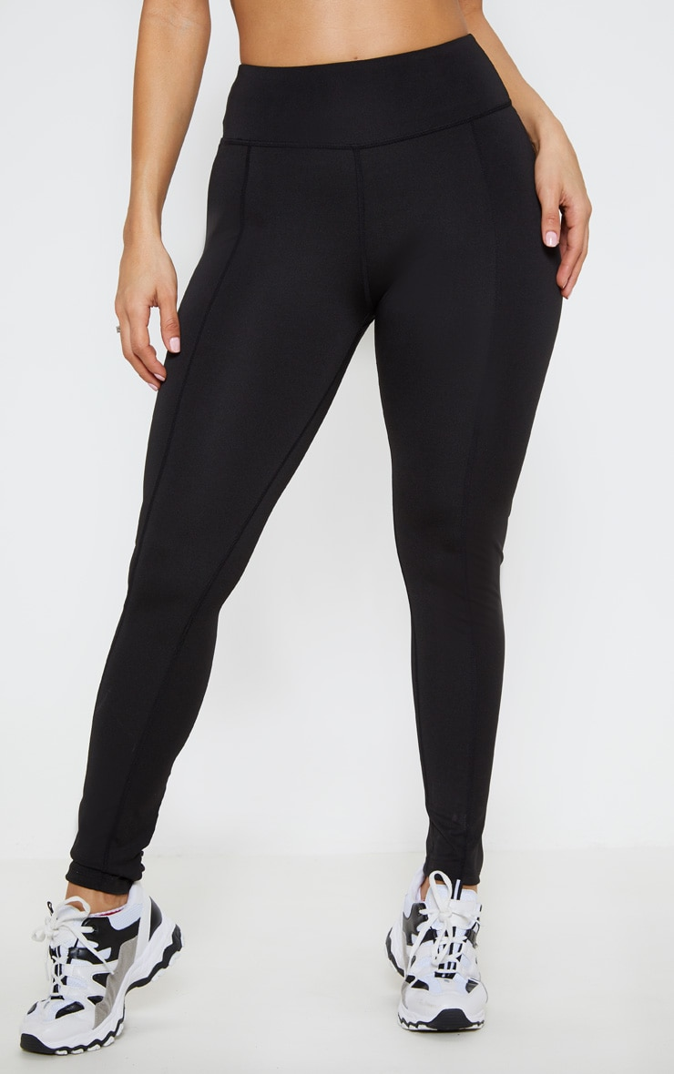 Black Lace Back Cuff Gym Legging 2
