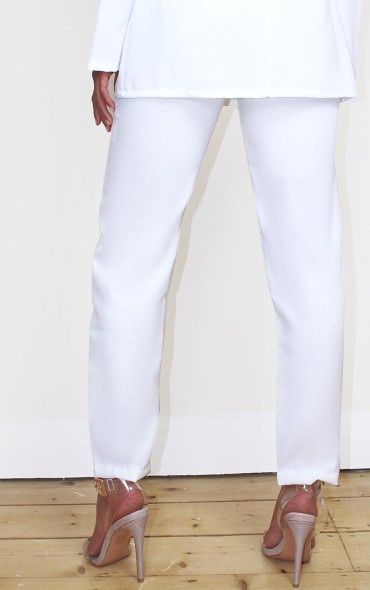 Petite Cream Woven Ankle Grazer Pants 3