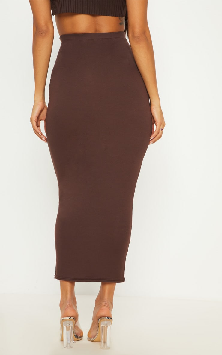 Chocolate Basic Maxi Skirt 3