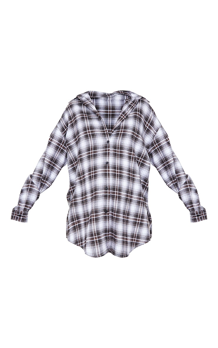 Maternity Black Checked Oversized Shirt 5