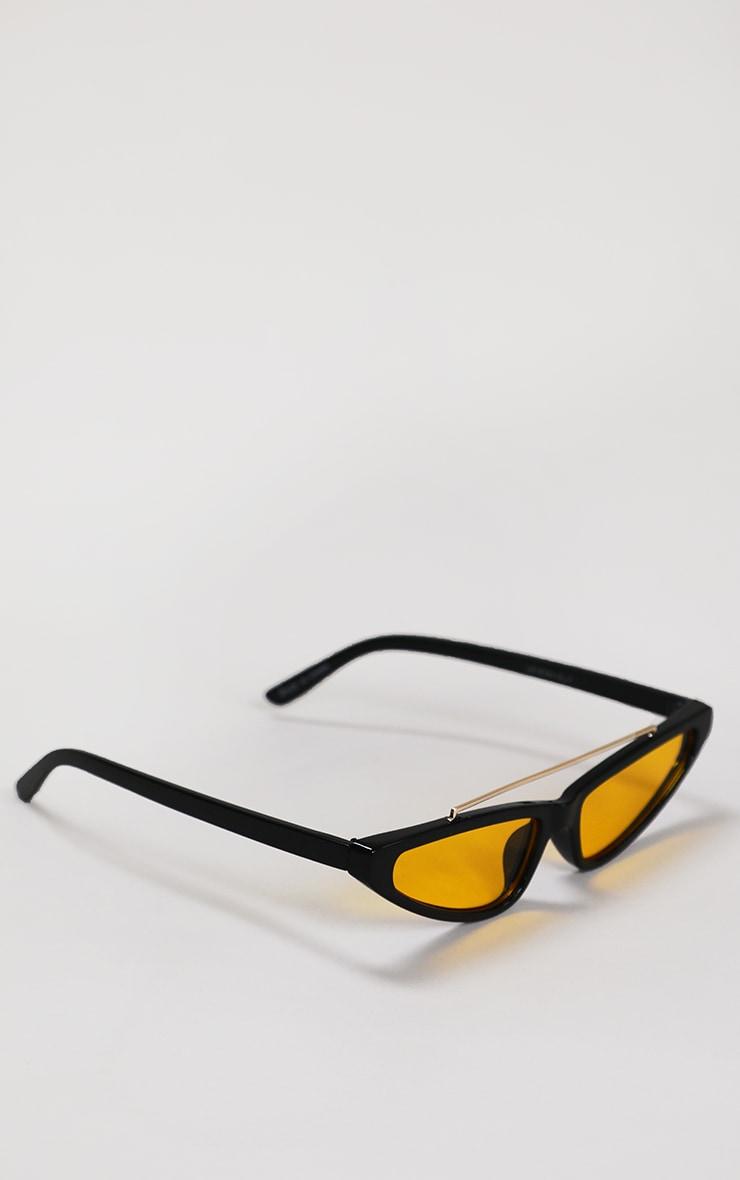 Black Cat Eye Yellow Lens Sunglasses 2