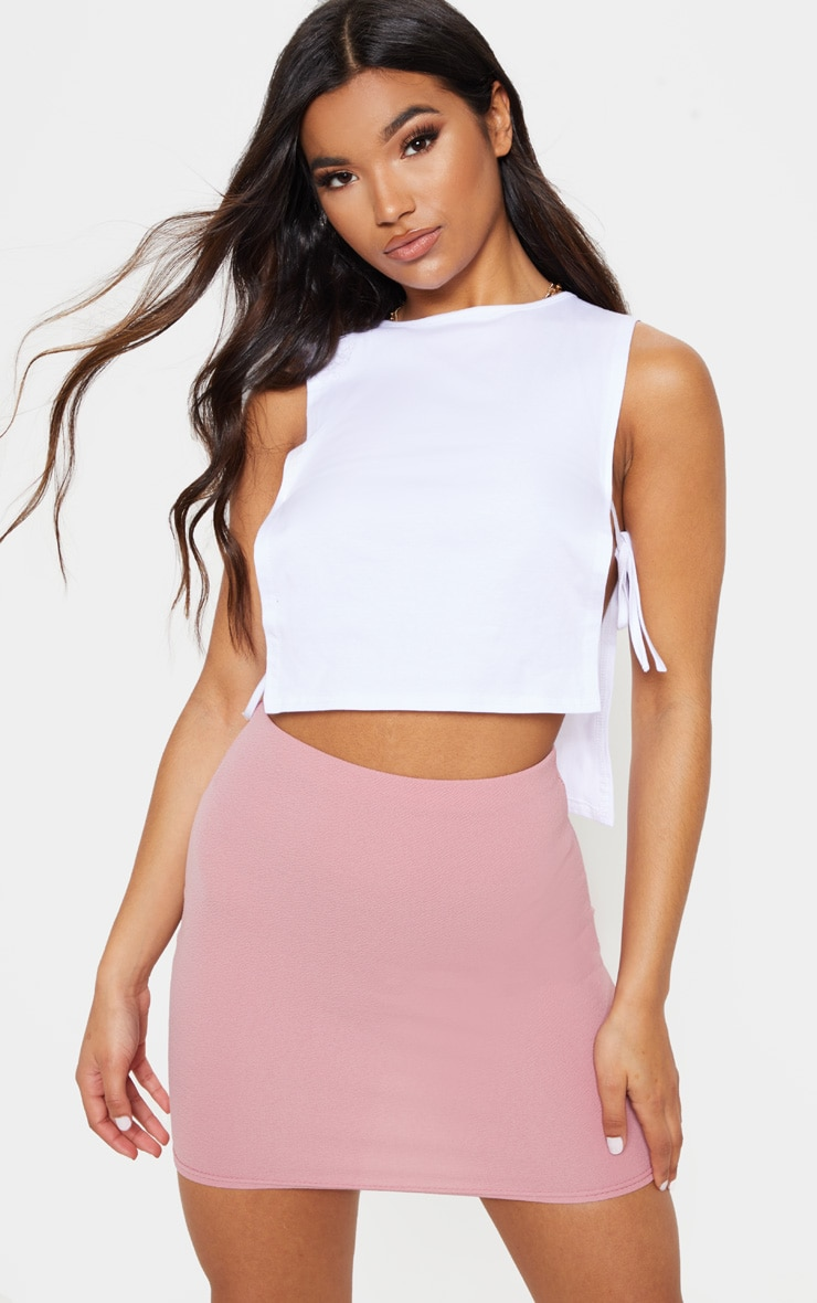 Pink Mini Suit Skirt 5