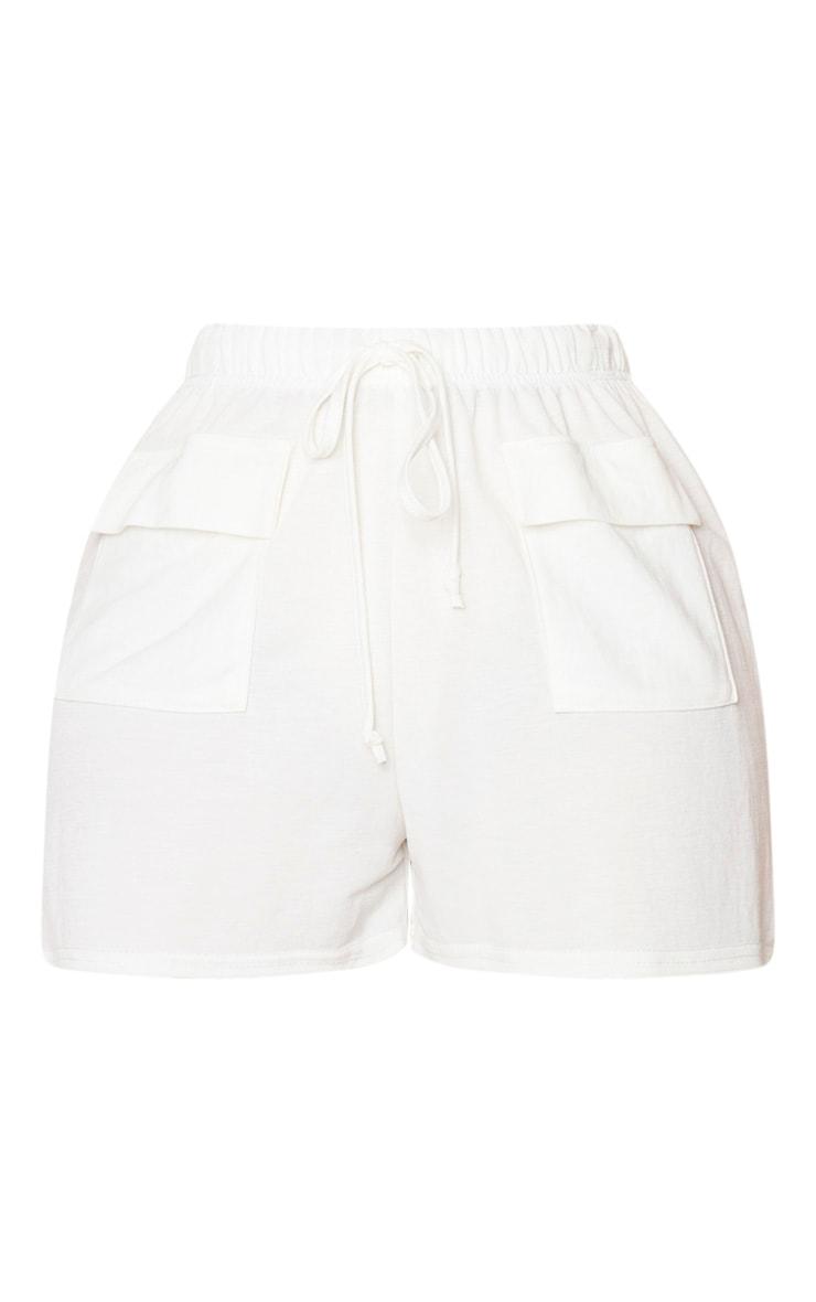 Petite Cream Cargo Shorts 6