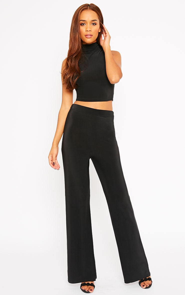 Remi Black Soft Touch Wide Leg Trousers 1