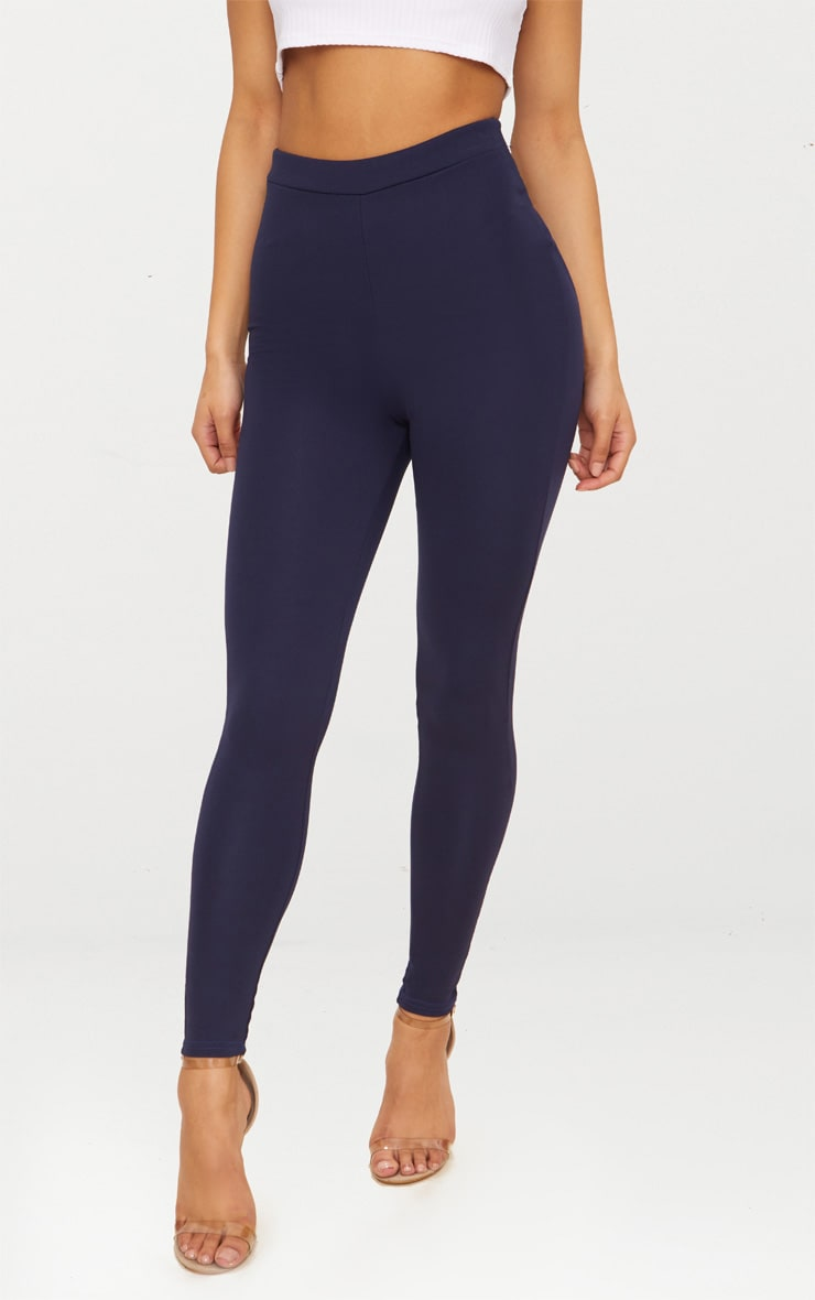 Navy Contour Seam Detail Legging 2