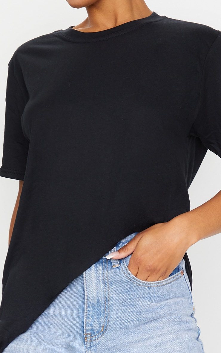 Black Oversized Boyfriend T Shirt 4