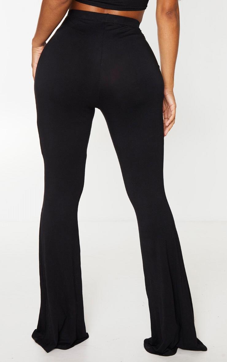 Shape - Pantalon flare en jersey noir à taille haute 3