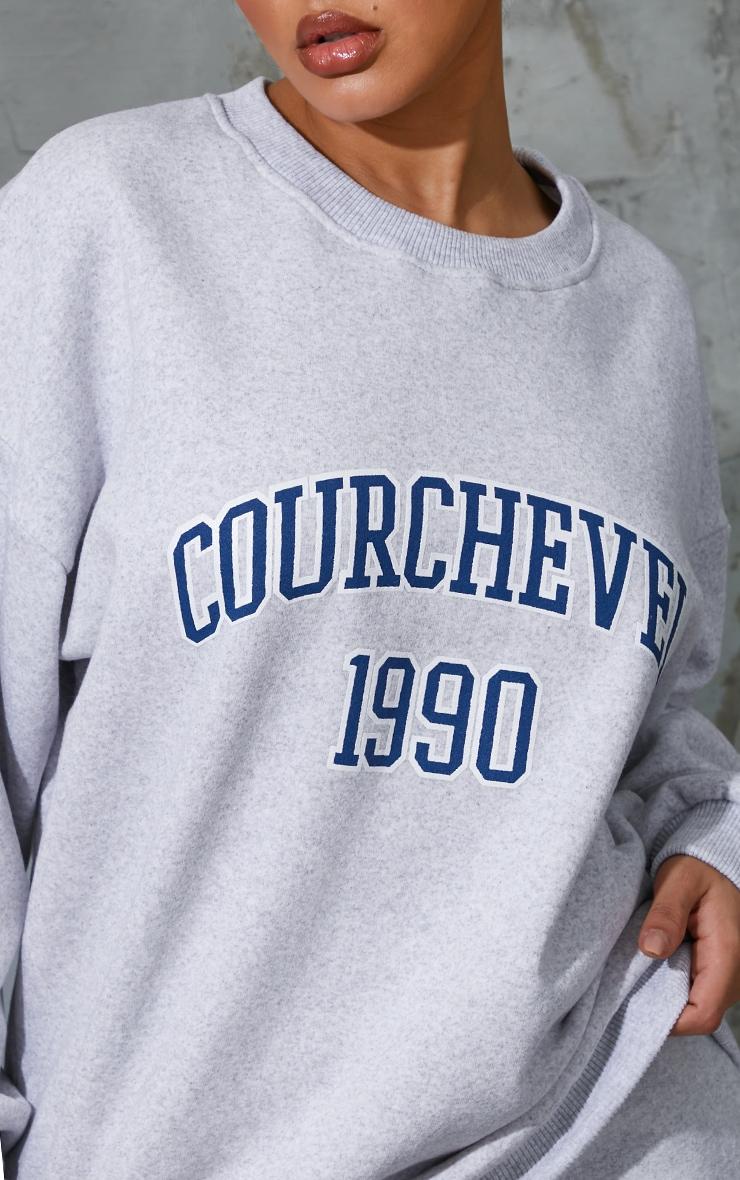 Ash Grey Courchevel 1990 Printed Sweatshirt 4