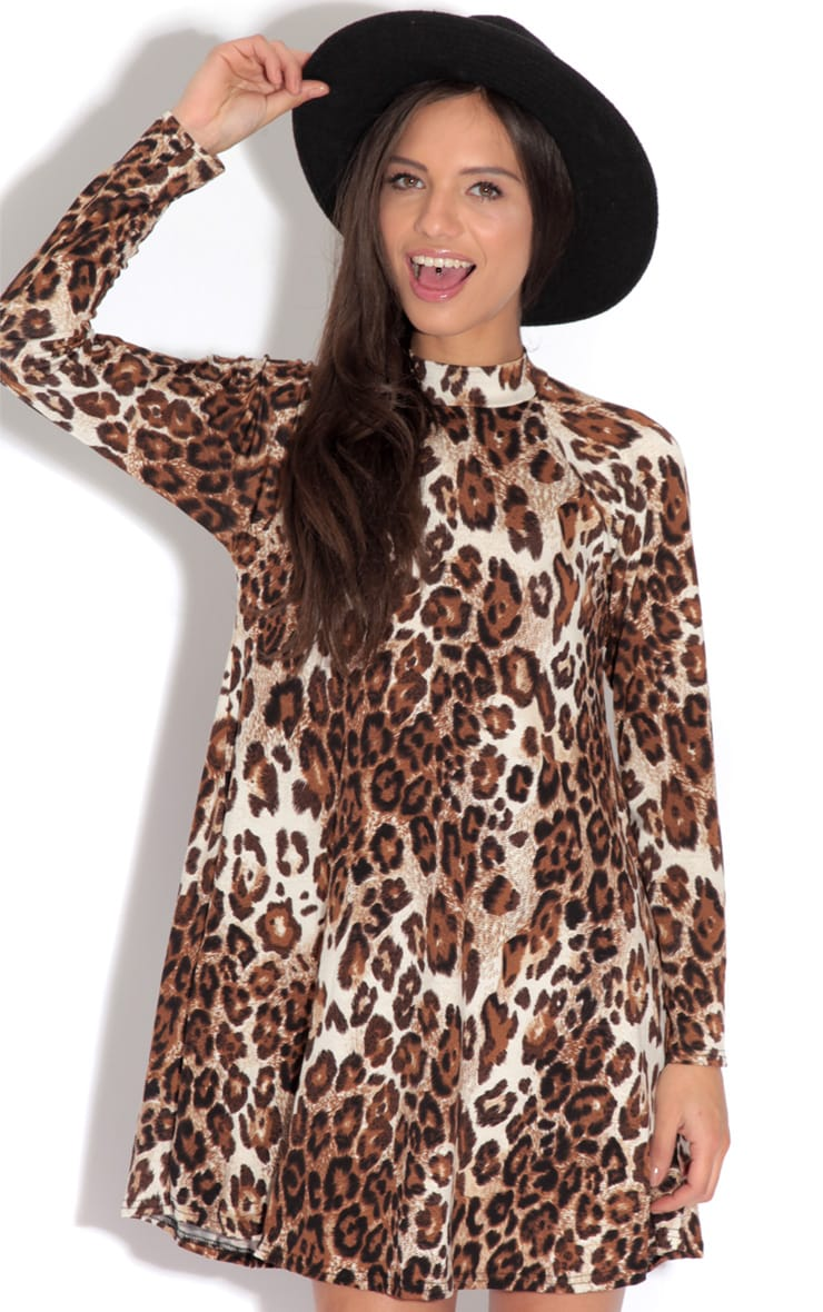 Bella Leopard Print Swing Dress 4