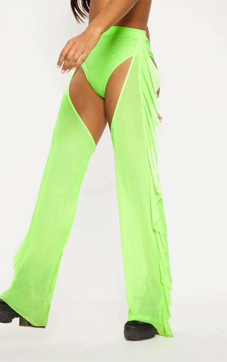 Lime Mesh Chap Trousers 2