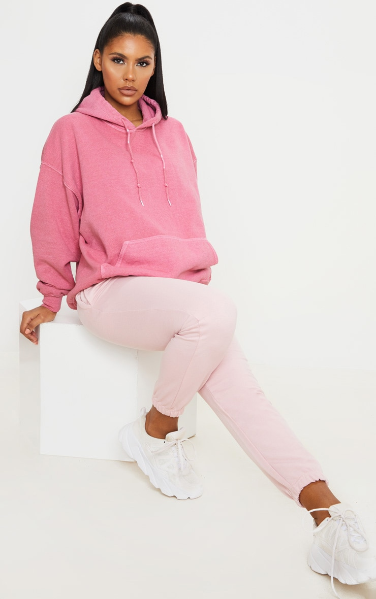 Pink Washed Oversized Hoodie 3