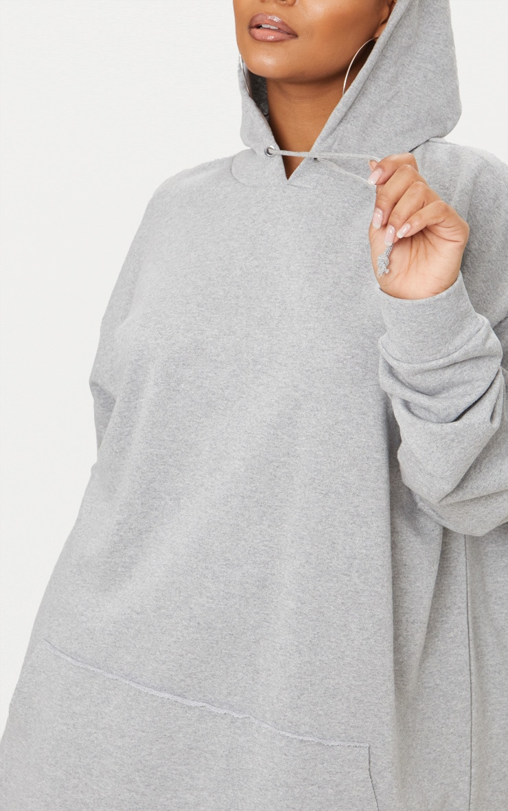 Plus - Hoodie oversized gris chiné 4